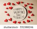 happy valentines day message... | Shutterstock . vector #552388246