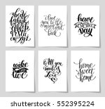 set of 6 hand written lettering ... | Shutterstock .eps vector #552395224