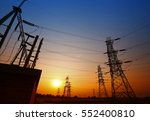 wire electrical energy at... | Shutterstock . vector #552400810