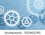 gears blue background. vector... | Shutterstock .eps vector #552401290