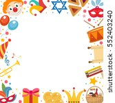 purim frame template with space ... | Shutterstock .eps vector #552403240