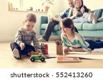 family spend time happiness... | Shutterstock . vector #552413260