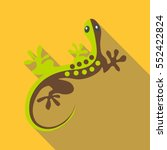 Gecko Icon. Flat Illustration...