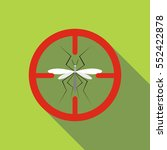mosquito icon. flat... | Shutterstock .eps vector #552422878