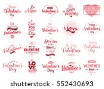 happy valentines day typography ... | Shutterstock .eps vector #552430693