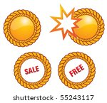 button of promottion | Shutterstock .eps vector #55243117