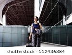 businesswoman traveler journey... | Shutterstock . vector #552436384