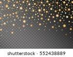 abstract golden starfall effect ... | Shutterstock .eps vector #552438889