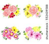 flower set | Shutterstock .eps vector #552439588