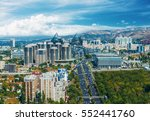 panoramic view of almaty city... | Shutterstock . vector #552441760