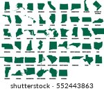 usa state maps vector... | Shutterstock .eps vector #552443863