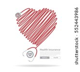 vector stethoscope heart design | Shutterstock .eps vector #552443986