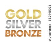 gold silver and bronze letter... | Shutterstock .eps vector #552445036