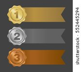 gold silver and bronze ribbons. ... | Shutterstock .eps vector #552445294