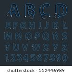 alphabet letters in shape of... | Shutterstock .eps vector #552446989