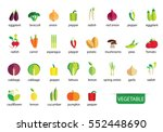 vegetables icons vector | Shutterstock .eps vector #552448690