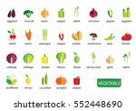 vegetables icons vector | Shutterstock .eps vector #552448690