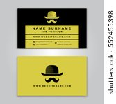 vector business card creative... | Shutterstock .eps vector #552455398