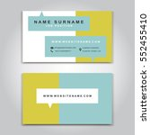 vector business card creative... | Shutterstock .eps vector #552455410