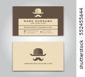 vector business card creative... | Shutterstock .eps vector #552455644
