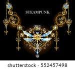 steampunk symmetric ornament... | Shutterstock .eps vector #552457498