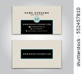 vector business card creative... | Shutterstock .eps vector #552457810