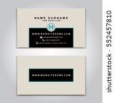 vector business card creative... | Shutterstock .eps vector #552457810