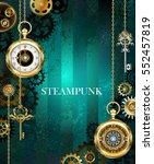 Steampunk  Jewelry  Gold Watch...