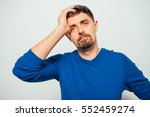 the man is sad | Shutterstock . vector #552459274