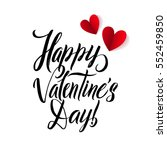 happy valentines day card.... | Shutterstock .eps vector #552459850