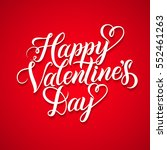 vector happy valentines day... | Shutterstock .eps vector #552461263