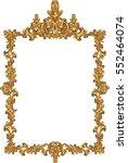 golden decor mirror frame.... | Shutterstock .eps vector #552464074