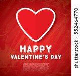 happy valentine's day greeting... | Shutterstock .eps vector #552464770