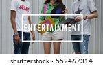 entertainment music teenagers... | Shutterstock . vector #552467314