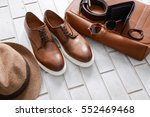 set of mans fashion and... | Shutterstock . vector #552469468