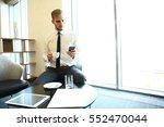 portrait of handsome successful ...   Shutterstock . vector #552470044