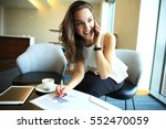 business woman working in... | Shutterstock . vector #552470059