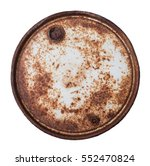 White Background And Lid Rust...
