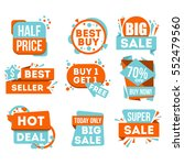big sale and hot deal badge... | Shutterstock .eps vector #552479560
