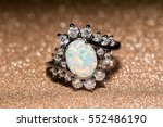 fashion ring decorated with... | Shutterstock . vector #552486190