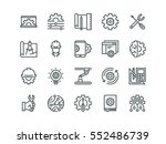engineering. set of outline... | Shutterstock .eps vector #552486739