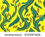 thai art pattern  | Shutterstock .eps vector #552487606