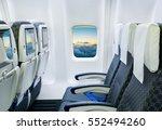commercial passengers airplane... | Shutterstock . vector #552494260