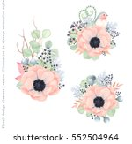 floral decorations with flowers ... | Shutterstock .eps vector #552504964