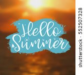 Hello Summer Card With Sunset...
