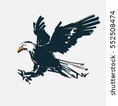 eagle fly  for logo  sketch... | Shutterstock .eps vector #552508474