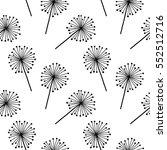 black on white dandelion.... | Shutterstock .eps vector #552512716