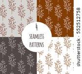wild flowers vector seamless... | Shutterstock .eps vector #552512758