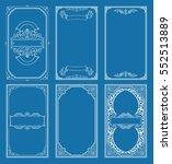 vintage blue vector set retro...   Shutterstock .eps vector #552513889