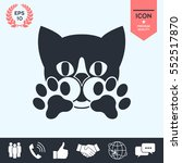 cute cat  paws   logo  symbol ... | Shutterstock .eps vector #552517870